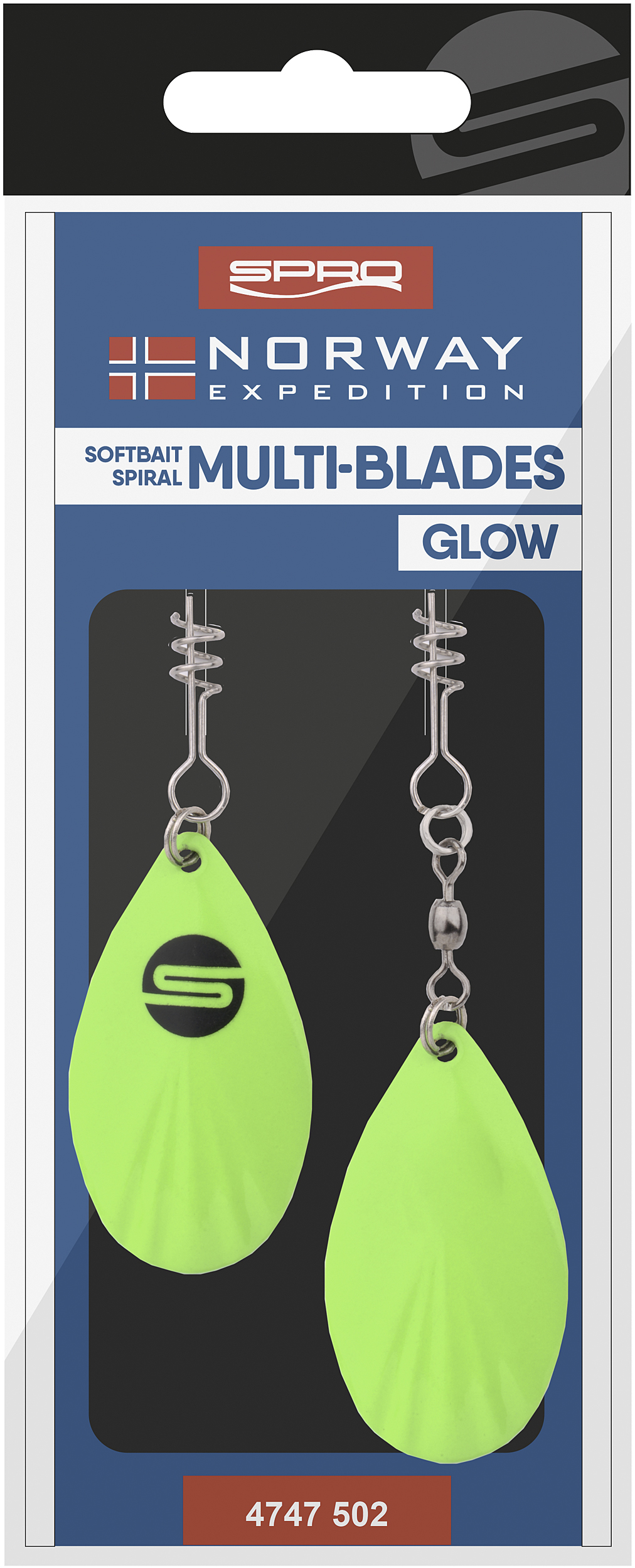 Spro-Norway Expedition Multi-Blades Farbe Glow-1 - Gerlinger.de