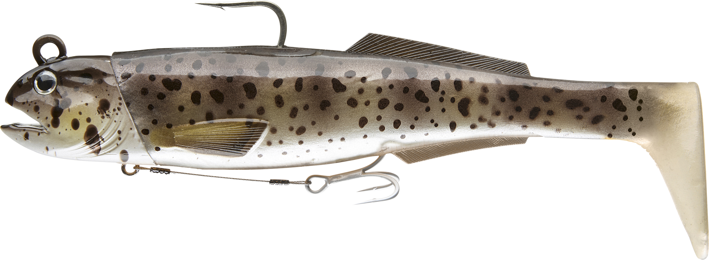 Daiwa-Shad D-Wolf Duckfin SW Farbe Spotted Wolf-1 - Gerlinger.de